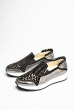 Load image into Gallery viewer, L182LFPN Marco Moreo Black and Silver Slip On Ladies Shoes for sale online ireland
