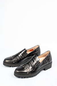 M1803T-CCC Jose Saenz Black Leather Slip On Shoe for sale online ireland