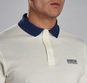 MML1059NY91 Barbour International Men's Contrast Polo Shirt for sale online ireland white and blue