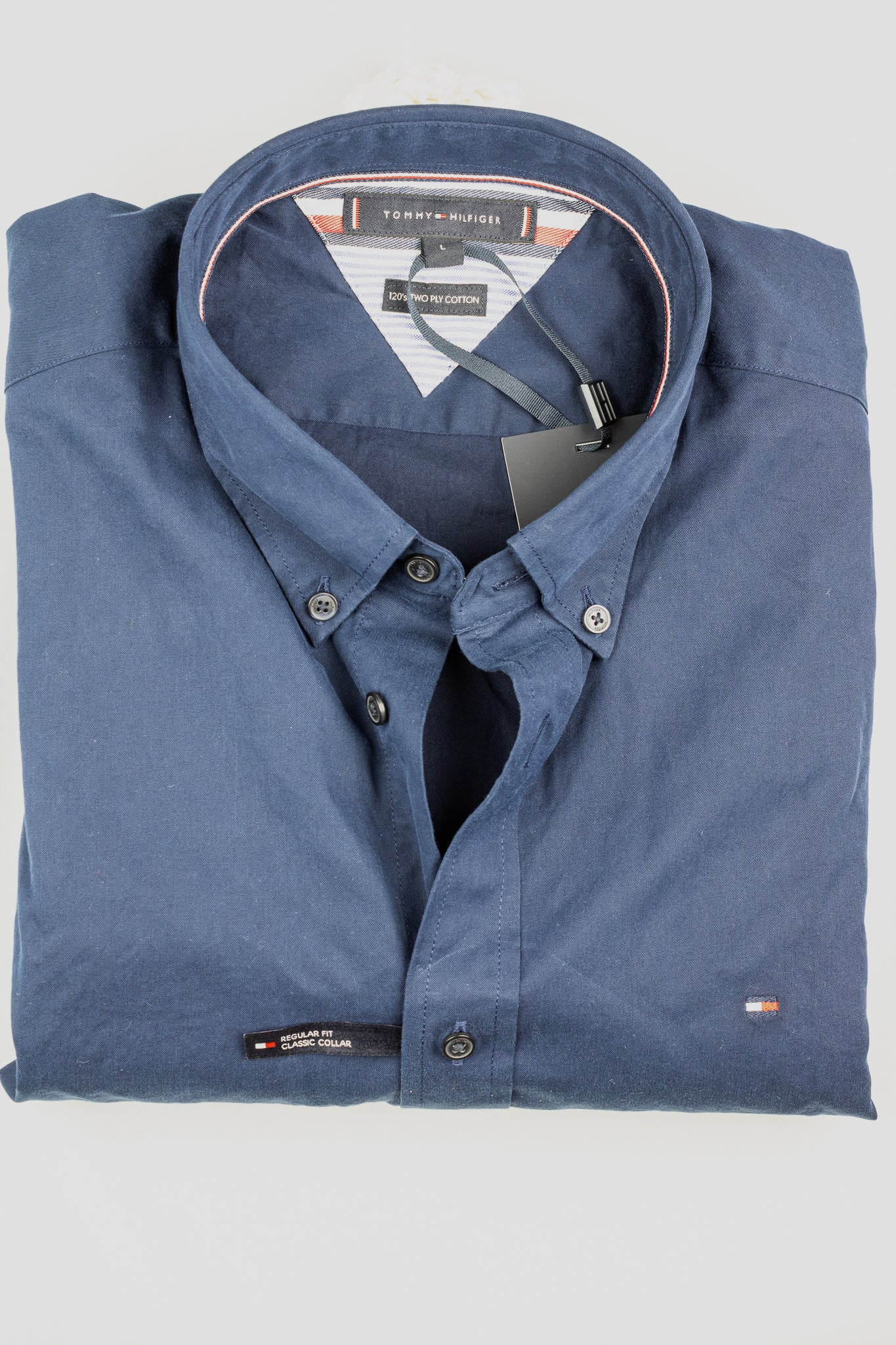MW0MW15690 DCC Tommy Hilfiger Fine Twill Men's Shirt in navy for sale online ireland