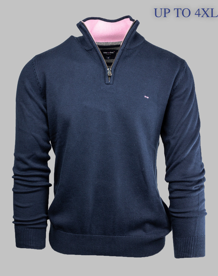 PPKNIPUE008 Eden Park Navy Half Zip for sale online ireland 4xl