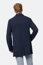 Load image into Gallery viewer, 531100 57070 380 Bugatti Men's Short Overcoat for sale online ireland navy