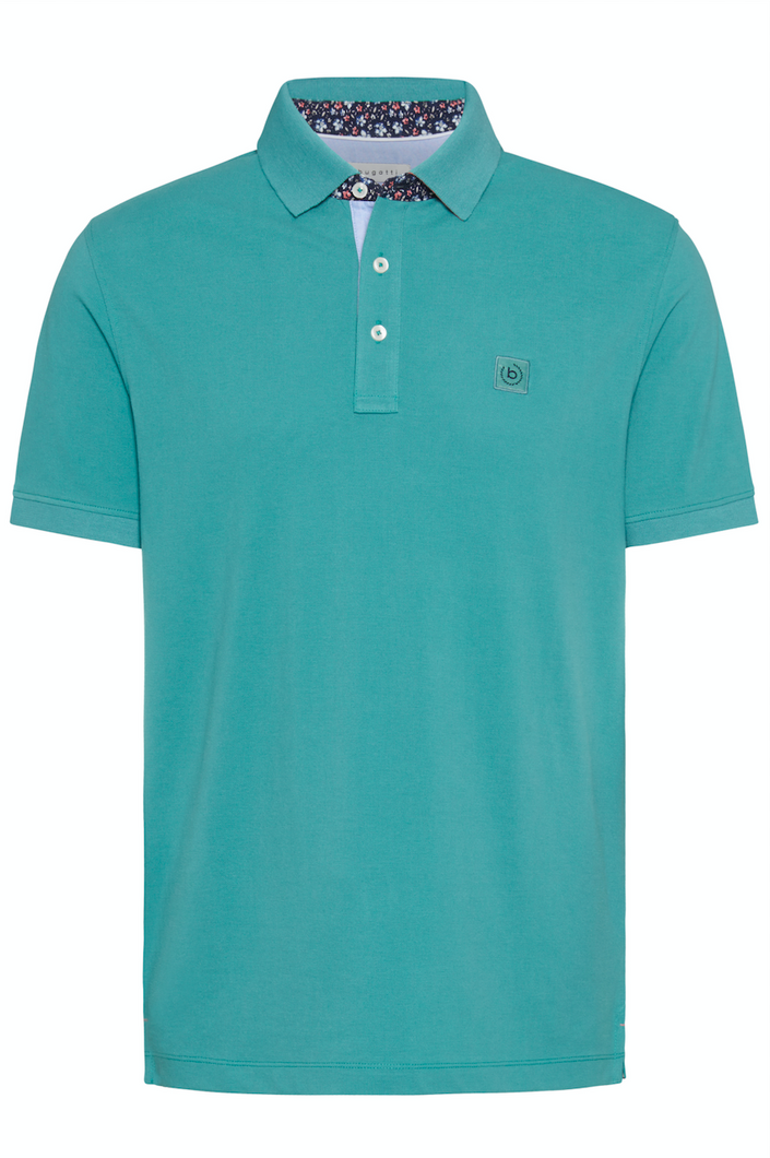 8150 55006 540 Bugatti Men's Polo Shirt aqua blue for sale online ireland