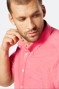 9450 58330 940 Bugatti Men's Short Sleeve Shirt Salmon Pink for sale online Ireland