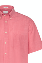 Load image into Gallery viewer, 9450 58330 940 Bugatti Men's Short Sleeve Shirt Salmon Pink for sale online Ireland