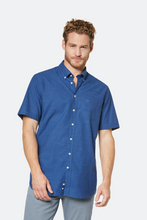 Load image into Gallery viewer, 9450 58330 370 Bugatti Men's Short Sleeve Shirt deep blue for sale online Ireland