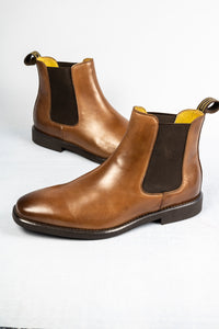 Steptronic Mayfair HI072 | Wide Fit Leather Slip On Chelsea Boots