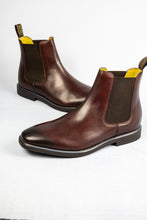 Load image into Gallery viewer, Steptronic Mayfair HI072 | Wide Fit Leather Slip On Chelsea Boots