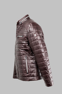Terenzio Milestone Burgundy Leather Jacket for sale online ireland