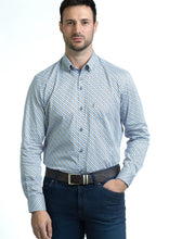 Load image into Gallery viewer, Andre Liffey | Beige & Blue Printed Shirt
