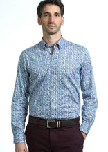 Load image into Gallery viewer, Andre Karol | Blue Floral Printed Men's Shirt