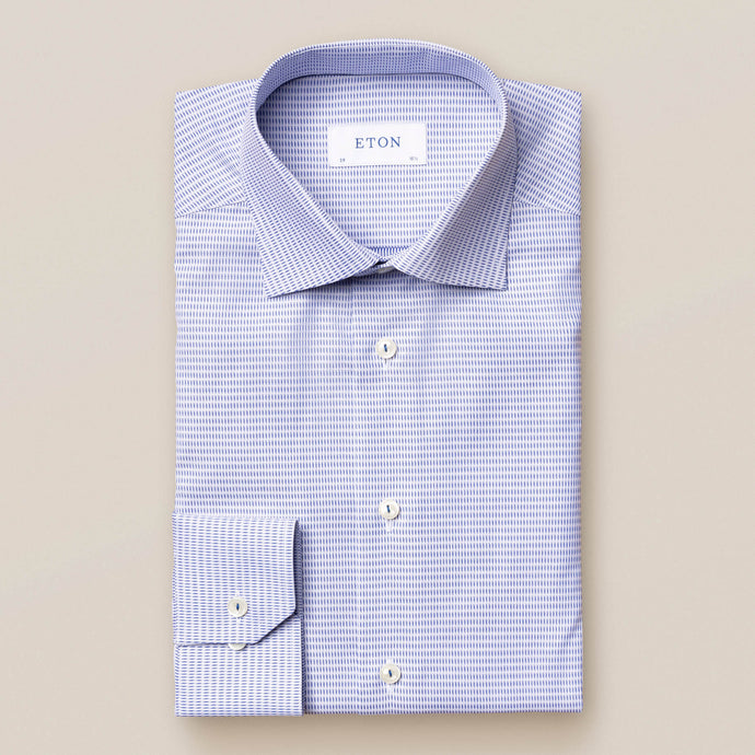 10000106127 Eton Micro Woven Blue Mens Shirt for sale online ireland