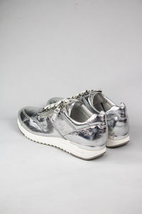 Caprice Lace & Zip Ladies Runners 9-23704-26 in Metallic Silver for sale online Ireland