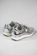 Load image into Gallery viewer, Caprice Lace & Zip Ladies Runners 9-23704-26 in Metallic Silver for sale online Ireland
