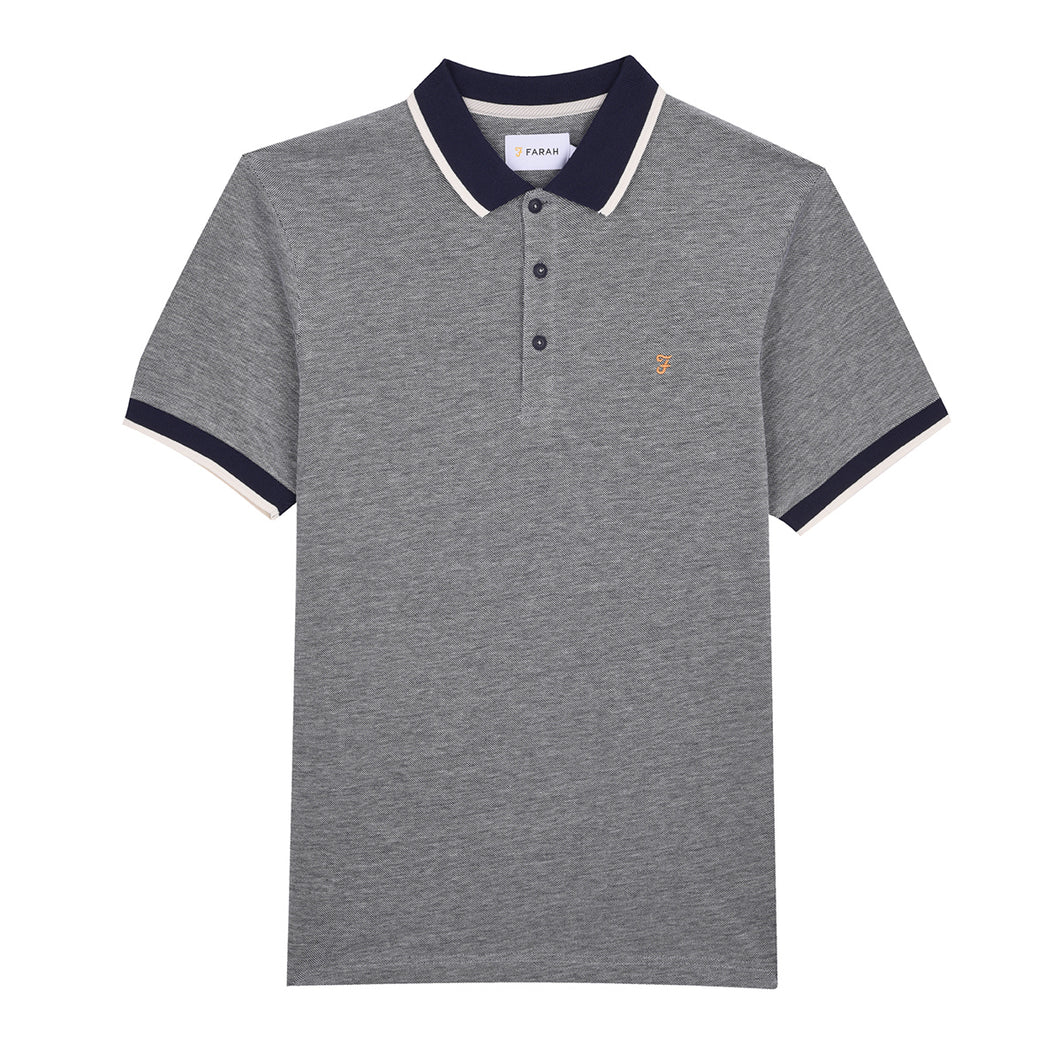 F4KH8024 412 Farah Men's Polo Shirt True Navy Basel Slim Fit for sale online ireland