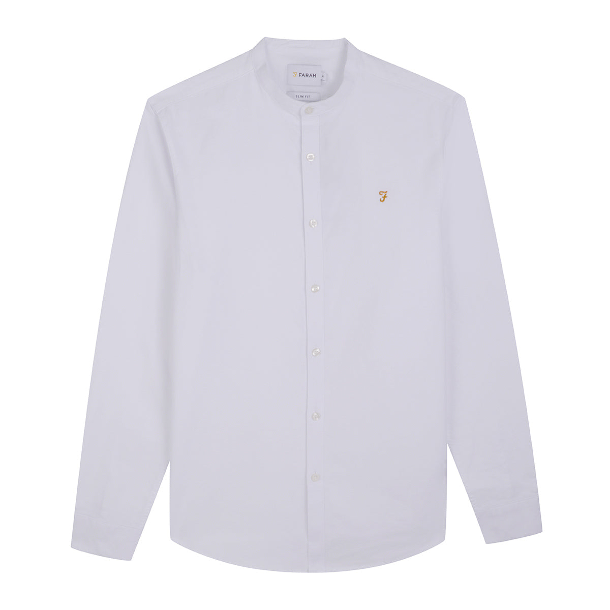 F4WF60D8 104 Farah Slim Fit Grandad Mens Shirt in White for sale Online ireland