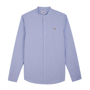 F4WF60D8 468 Farah Slim Fit Grandad Mens Shirt in Sky Blue for sale Online ireland