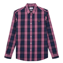 Load image into Gallery viewer, F4WF80C0 668 Farah Men's Slim Fit Check Shirt Tartan Dusty Rose for sale online ireland