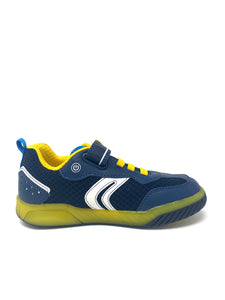 Navy Blue Boys' Trainers with Lightning Stripe Pattern