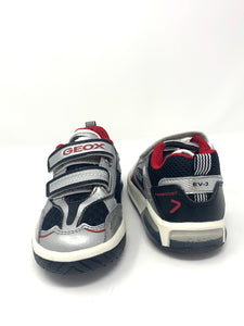 Silver/Black Inek Boy Trainer with Lights