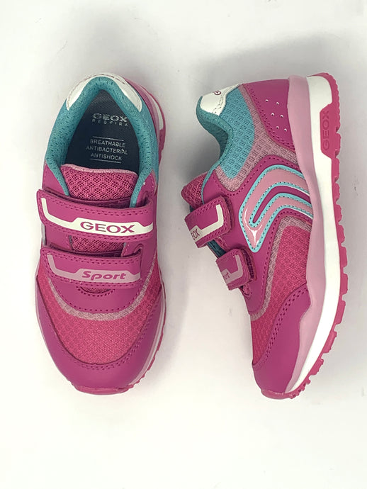Pink Girls' Trainers with Aqua Contrast Detailing