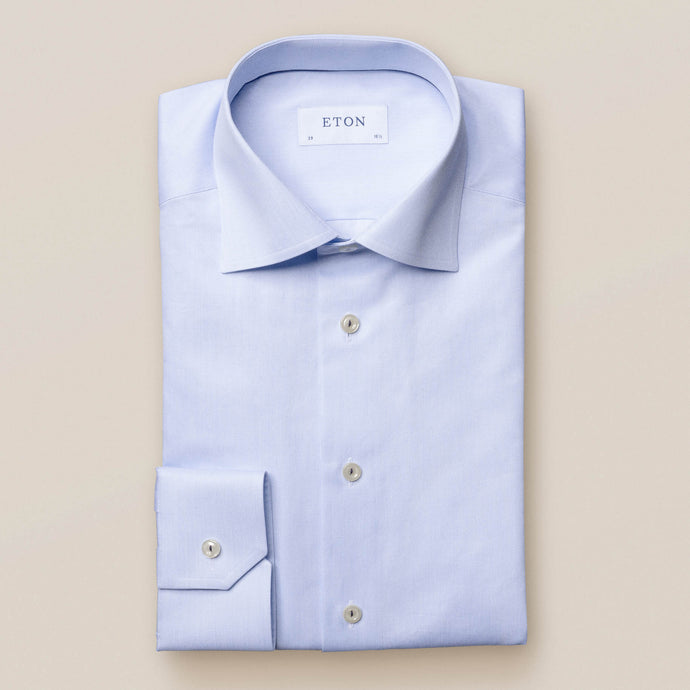 100001050 Eton Mens Shirt in light blue 21 for sal online ireland