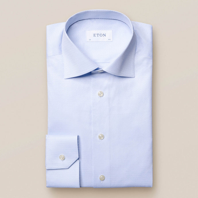 10000094221 Eton Light Blue Water Weave Mens Suit Shirt stocked online ireland