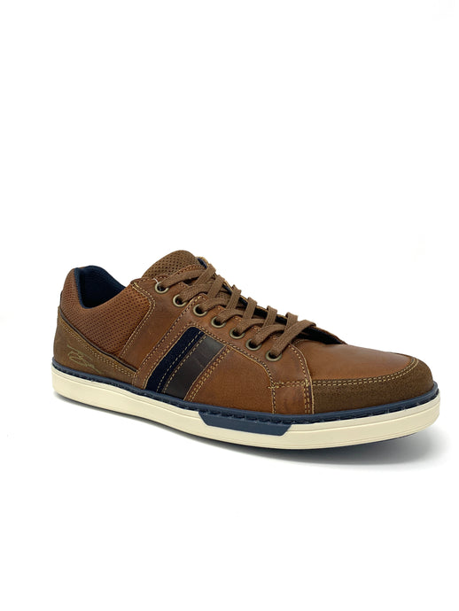 Franks Brown Trainers with Classic White Sole