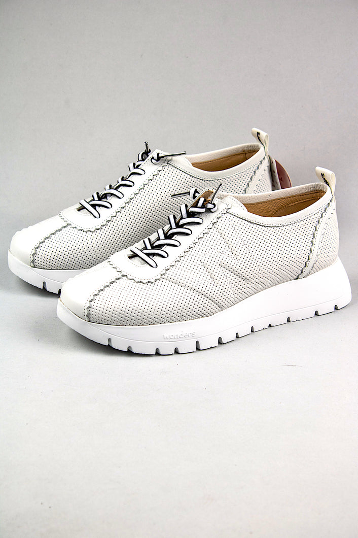 Wonders Platform Trainers Shoes A2403 Off White for sale online Ireland