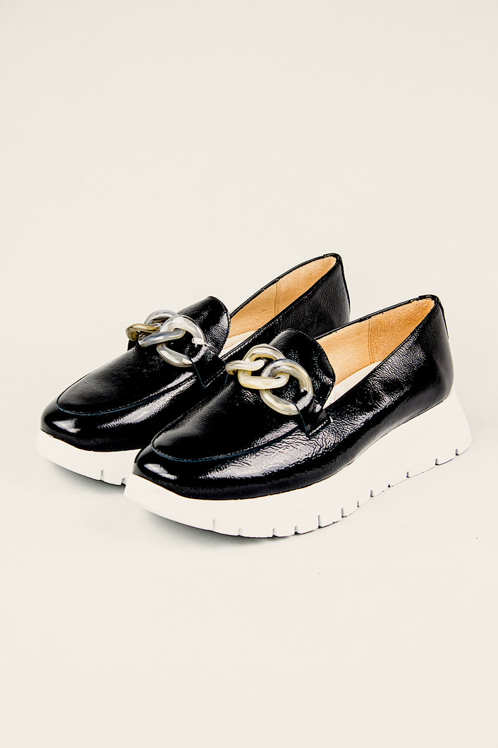 Wonders Platform Slip On Shoes A2405 Black for sale online Ireland