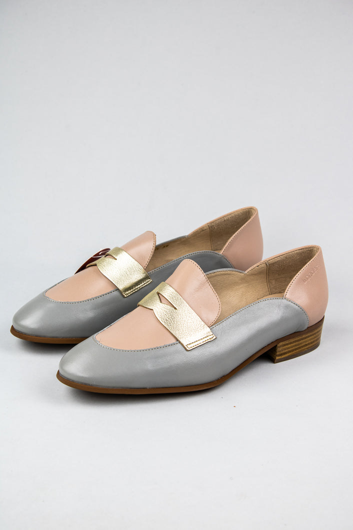 Wonders Flat Loafers B7611 Pink and Grey for sale online Ireland
