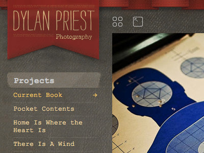 Dylan Priest photography website by Hardly Code