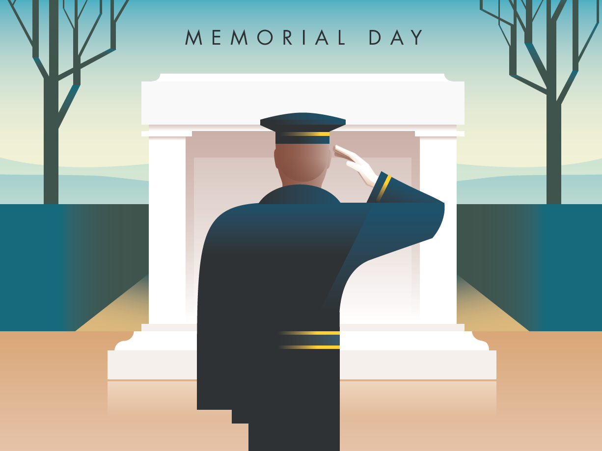 Rick Murphy Memorial Day illustration