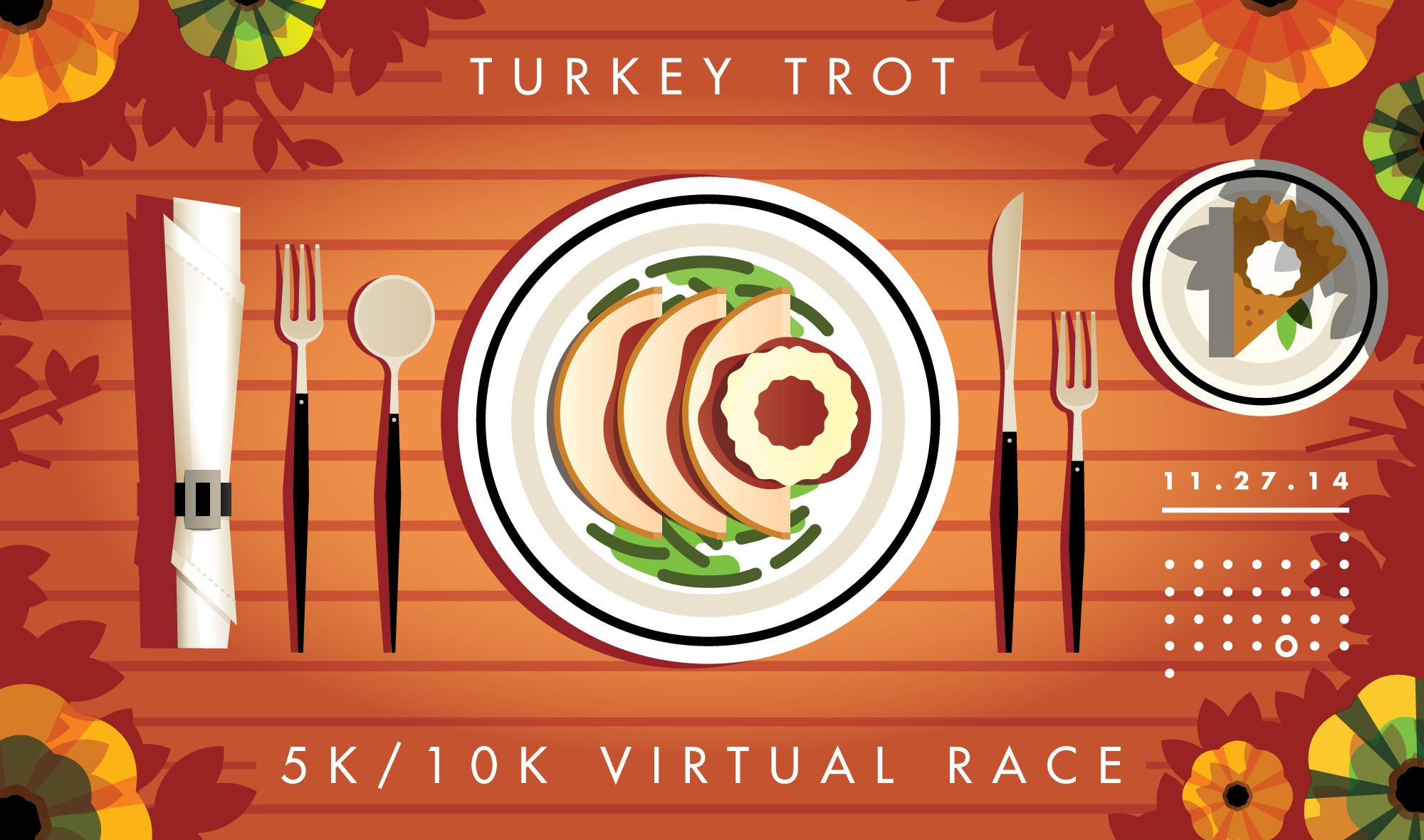 Rick Murphy thanksgiving turkey trot illustration