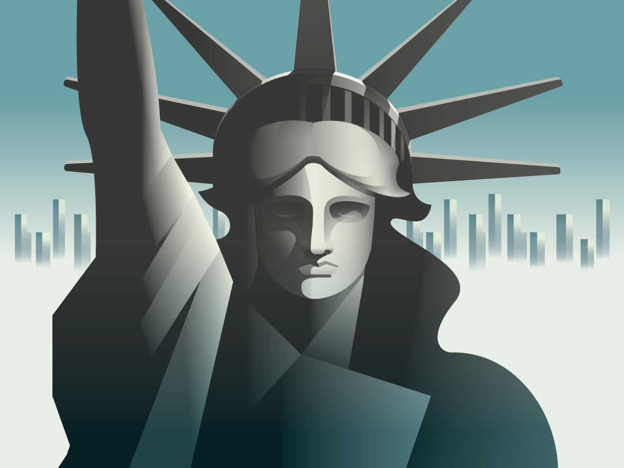 Rick Murphy Statue of Liberty illustration