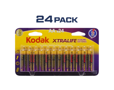 AA Kodak XtraLife 24 Pack Alkaline 1.5V Low Drain Batteries