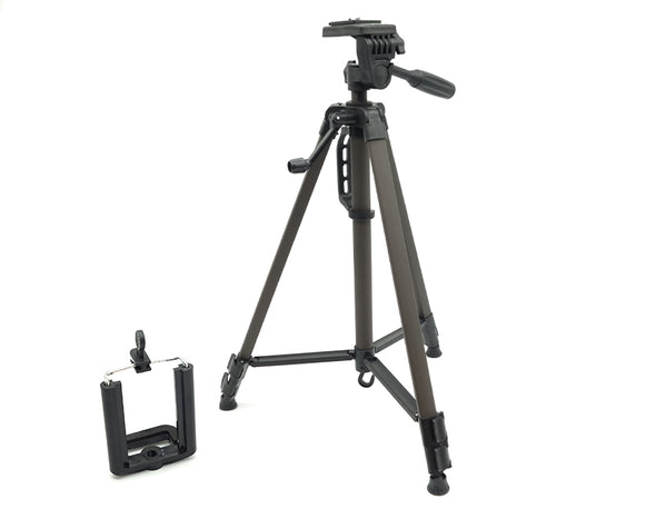 Camera Tripod Lightweight Compact Level Indicator Aluminium Phone Mount 48-135cm 3366