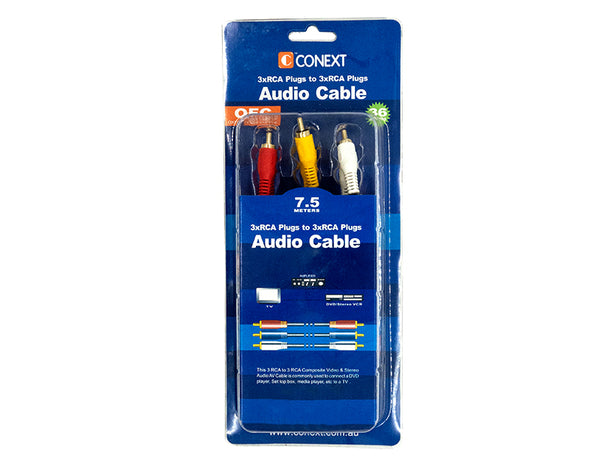 3RCA to 3RCA AV Audio Video Cable 1.5m/7.5m 3RCA