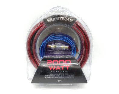4 Gauge 2000Watt Car Audio Wiring Kit Maximum Signal Transfer S754