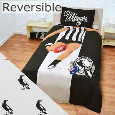 Collingwood Football Club - Single Bed Quilt Cover Set 56905