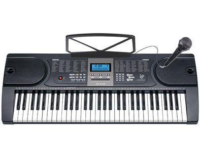 61 Key Full Size Electronic Keyboard LCD Screen Wired Microphone MK2106
