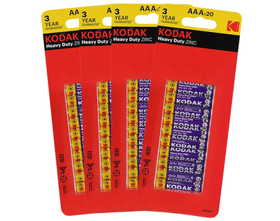 AAA Kodak 160 - BULK Heavy Duty Zinc 1.5V Low Drain Batteries