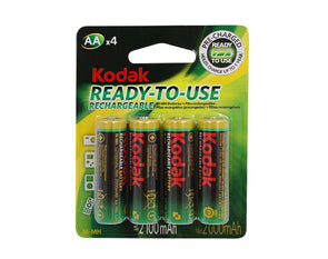 Kodak AA Rechargeable Pre-Charged Ni-MH Batteries