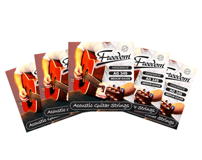 5 Pack Acoustic Guitar Strings - Medium Gauge AG349