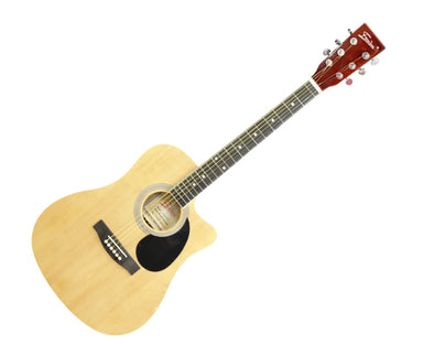 "Freedom 41"" Semi Acoustic Guitar with Built-In Pickup Natural AG500TCE"