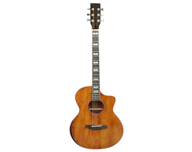 "41"" 6 String Acoustic Guitar Steel String Cutaway Natural Pick Up F41DWDEQ"