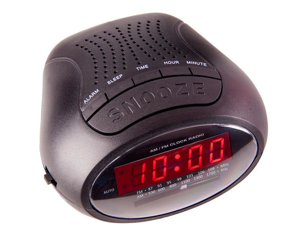 Laser Digital Alarm Clock AM FM Radio Snooze Dual Alarm - Refurbished SPK-AC2018
