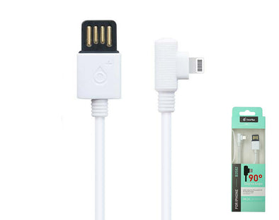 Lightning to USB Data Cable 1m Right Angle 90 Degree B3582
