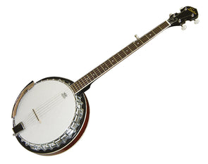 Freedom 5-String Banjo Full Size Chrome Machine Heads and Rim Remo Head BJ008