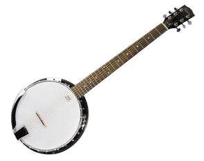 Freedom 6 String Banjo Full Size Chrome Machine Heads and Remo Head BJ006